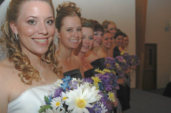 Hair for The bride and all her brides maids!