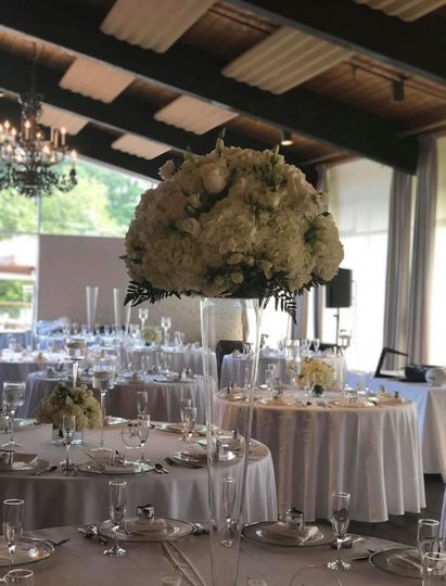 Lush tall centerpieces