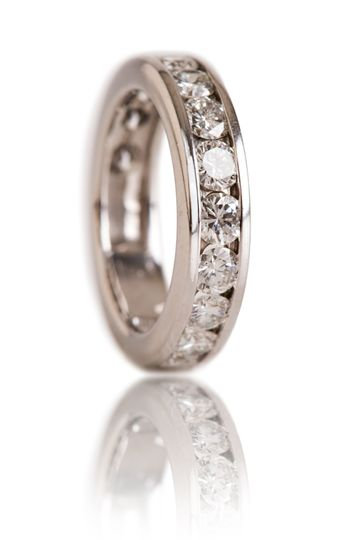 Style#R1517-PLAT Plat Anniversary Band  2.10 CT  Thirteen Round  Diamonds SI-Quality  G-H Color...