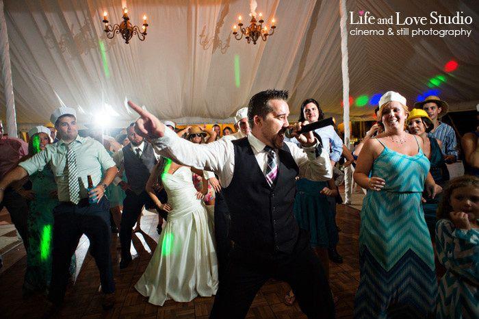 DJ at the wedding