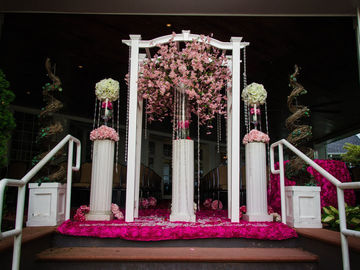 Tmx 1478364353712 Arbor Decoraated In Pink Durham, NC wedding venue