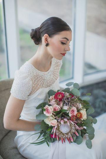 Pink bride bouquet