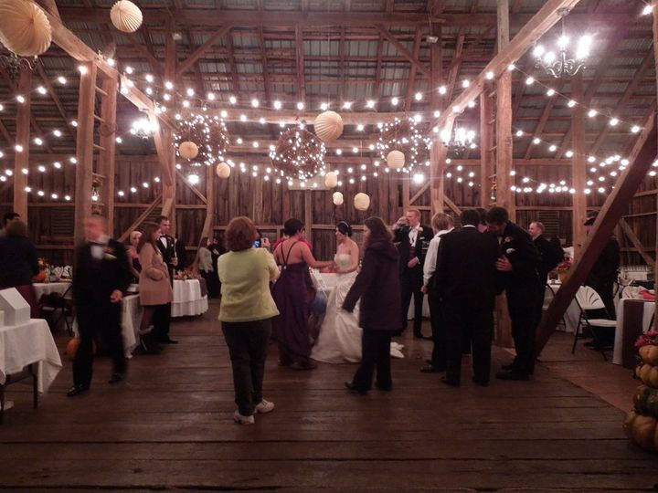 Dancing on the threshing floor in the 19th Century barn.