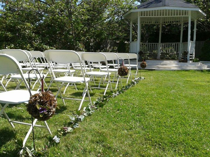 we can move the chairs for you from the ceremony to the reception while you greet your guests