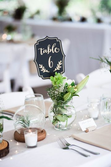 Table setup