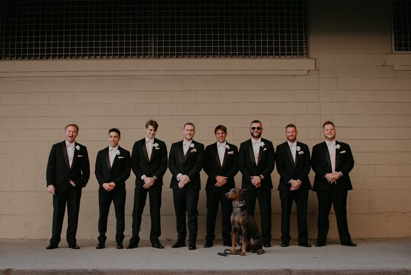 Groomsmen Downtown Detroit