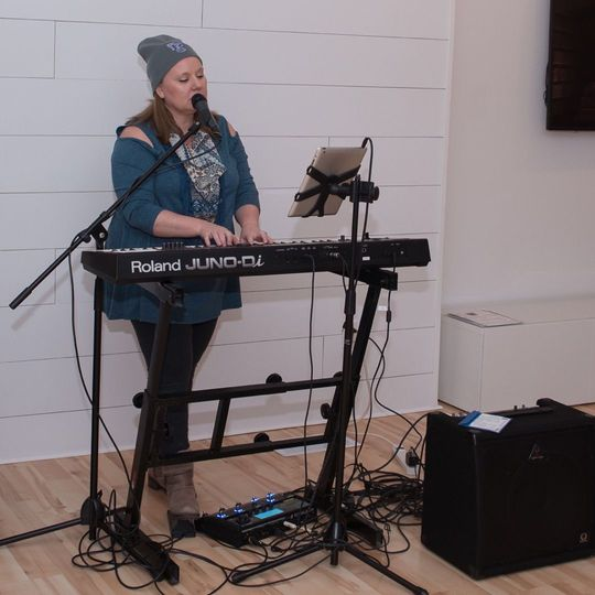 Katie Ann has a clean set up when her equipment is needed for indoor our outdoor venues.