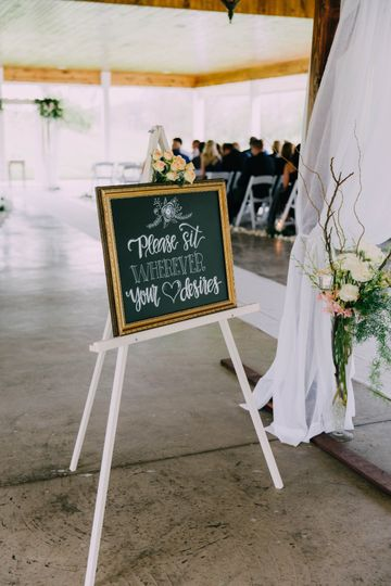 Custom chalkboards from welcoming your guests to seating charts and menus.
