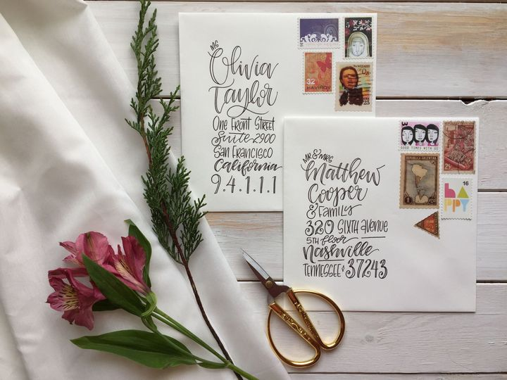 Build anticipation with unique lettering with your save the dates or invites!