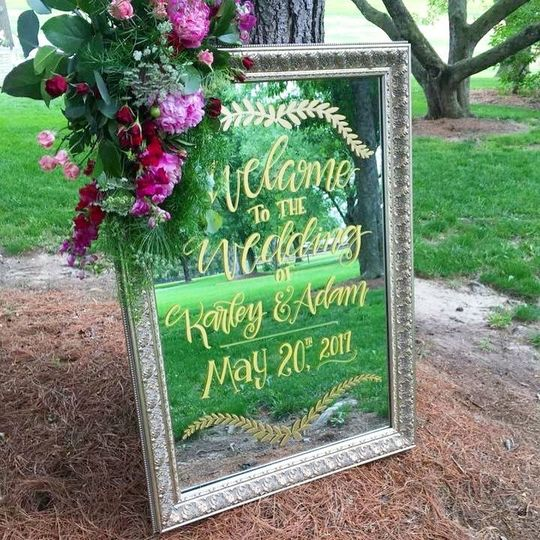 Feel free to make a custom order your all your wedding signage needs!