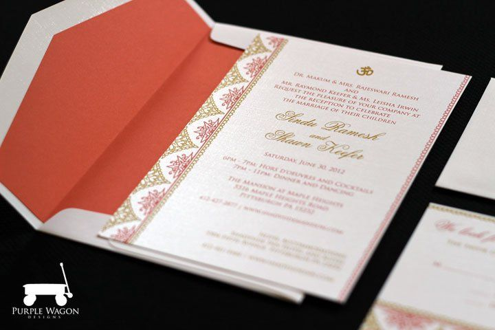 Wedding invitation package with Indian flair