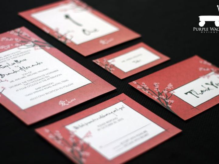 Tmx 1338815726460 AsianRed Buffalo, NY wedding invitation