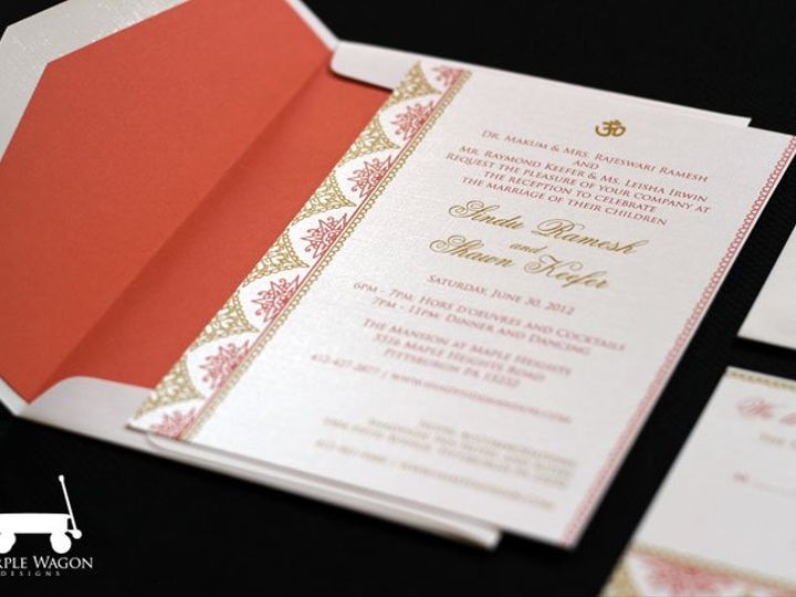 Tmx 1338815727602 IndianCoralGold Buffalo, NY wedding invitation