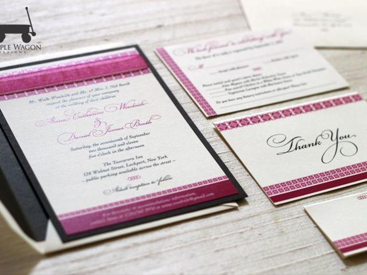 Tmx 1338815729849 PinkBrown Buffalo, NY wedding invitation