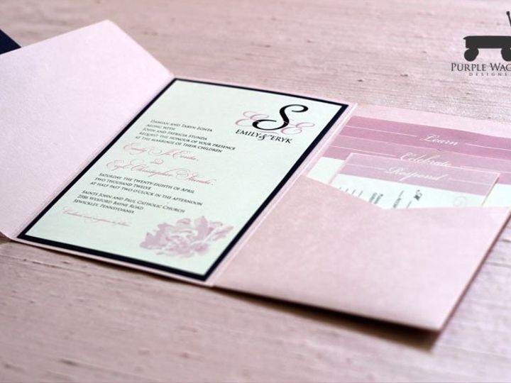 Tmx 1338815730825 PinkFolder Buffalo, NY wedding invitation