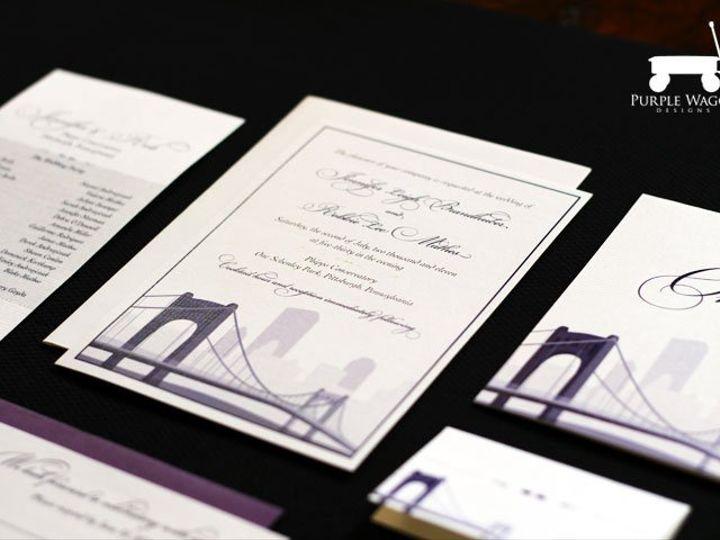 Tmx 1338815731705 PittsburghBridge Buffalo, NY wedding invitation