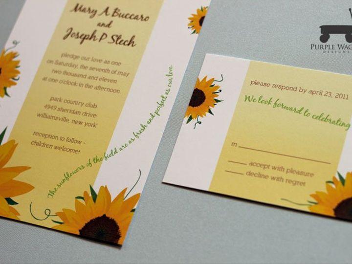 Tmx 1338815732656 Sunflowers Buffalo, NY wedding invitation