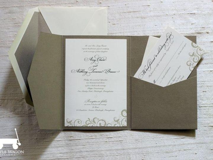 Tmx 1338815733430 SwirlFolder Buffalo, NY wedding invitation