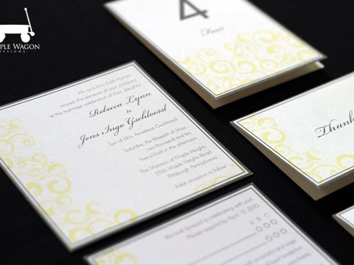 Tmx 1338815734357 SwirlSquare Buffalo, NY wedding invitation