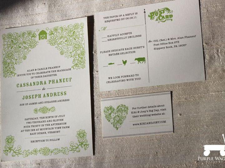 Tmx 1358879941858 BarnFlowers Buffalo, NY wedding invitation