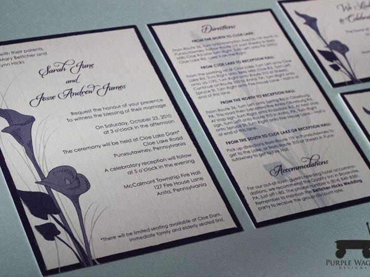 Tmx 1358879942603 CallaLily Buffalo, NY wedding invitation