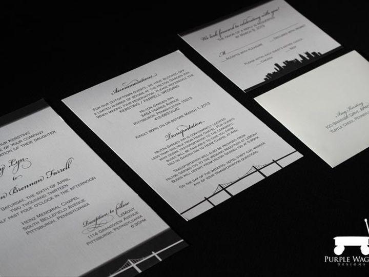 Tmx 1358879944411 PittsburghBridge2 Buffalo, NY wedding invitation