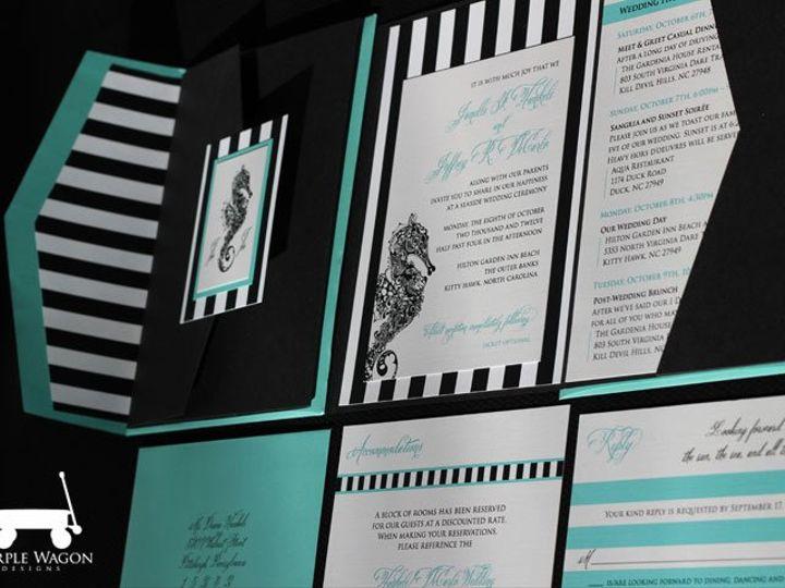 Tmx 1358879946238 SeahorseFolder2 Buffalo, NY wedding invitation