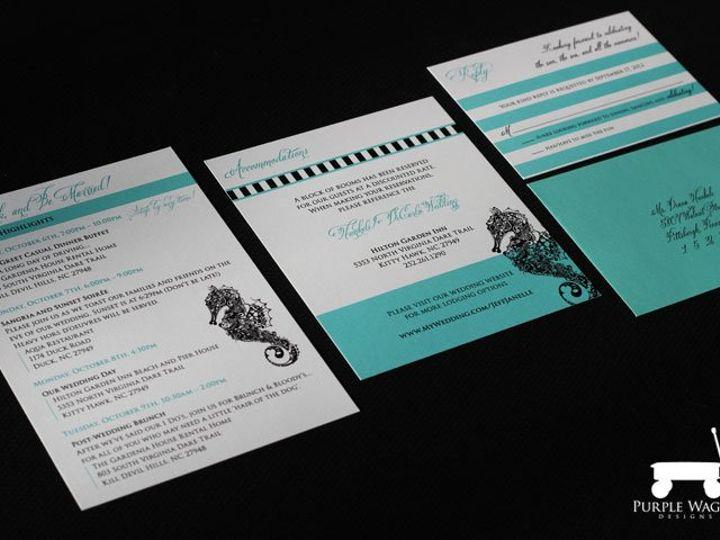 Tmx 1358879946832 SeahorseFolder3 Buffalo, NY wedding invitation
