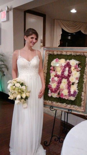 Bride holding her bouquet