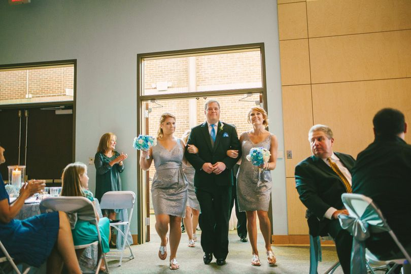 Entering the reception
