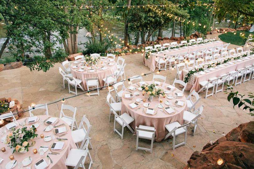 Creekside Reception tables