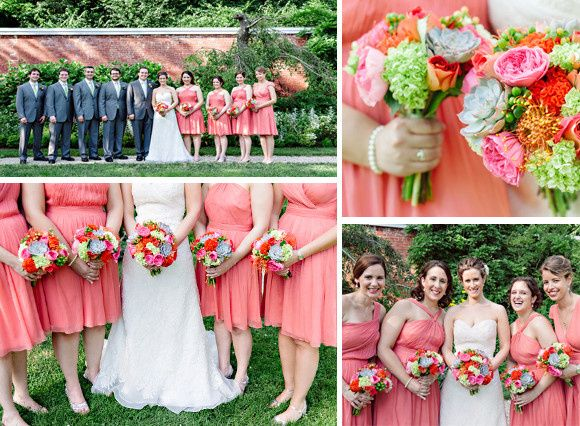 Vibrant and playful flowers in hues of pinks, oranges and greens are mingled with succulents for...