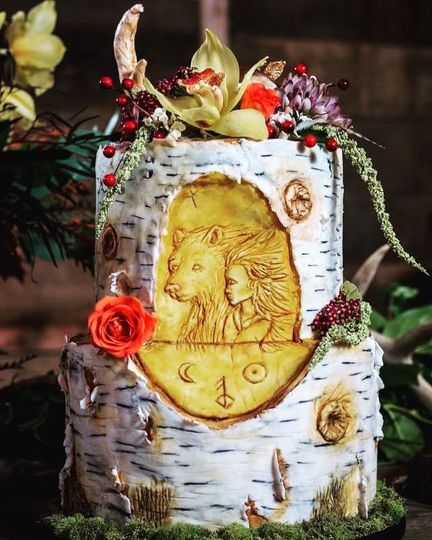East of the Sun West of the Moon styled wedding cake