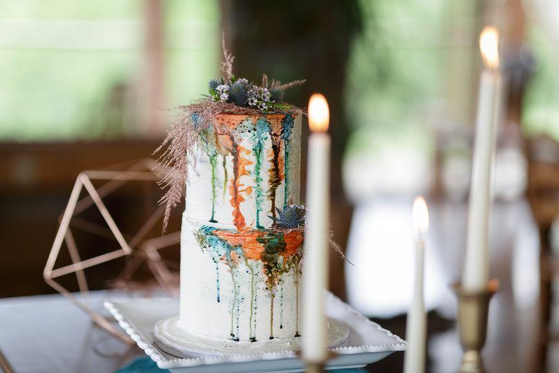 Watercolor drip cake