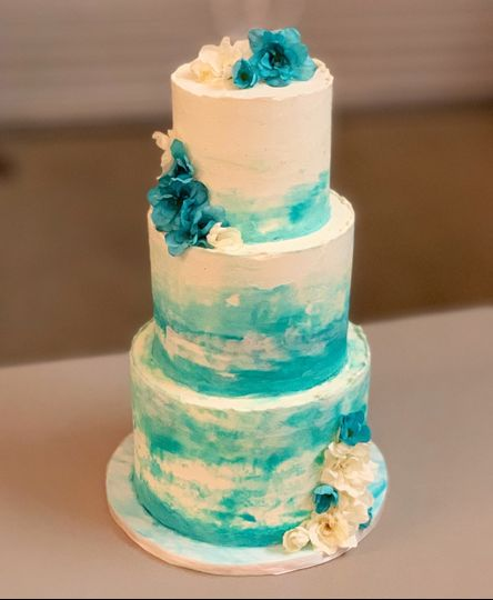 Watercolor buttercream