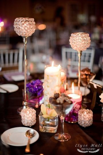 Centerpiece with shimmer