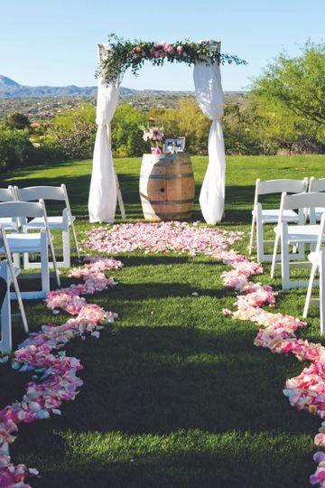 Flower petal runway