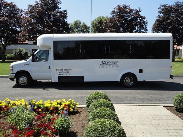 22 Passenger Luxury Limousine Bus - The Mac Luna  Has a Club Style sound system with iPod dock,...