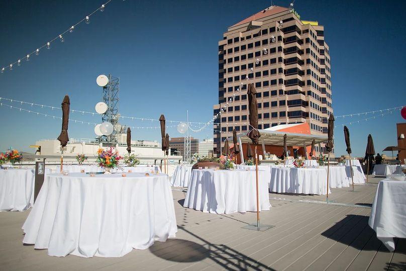 Outdoor wedding reception setup