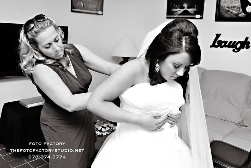 A rare behind-the-scenes look of Tiffany helping a beautiful bride into her dress! Such a special...