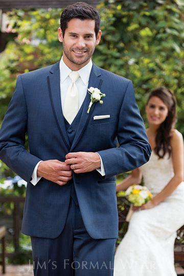 slate blue aspen slim fit tuxedo windsor tie
