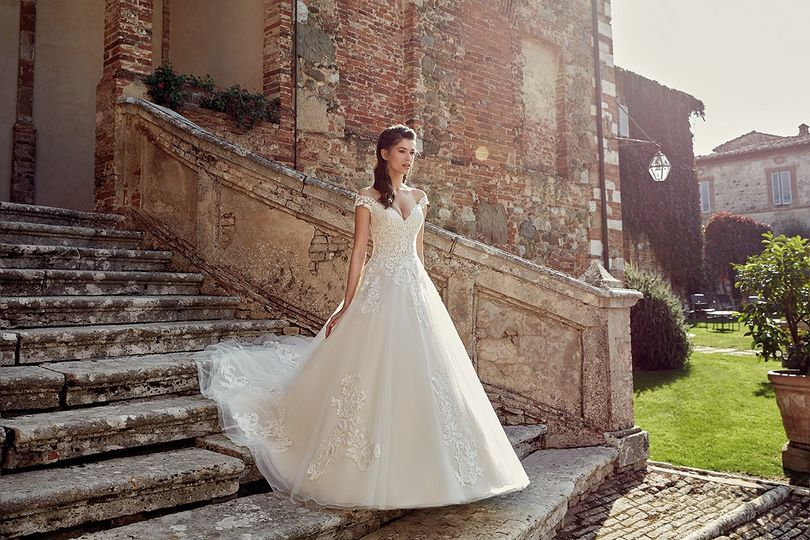 Off Shoulder Princess Gown