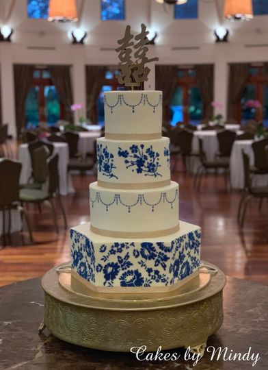 Chinese Inspired Wedding Cake