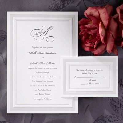 Lovely traditional invitation