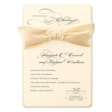 Elegant invitation with bow