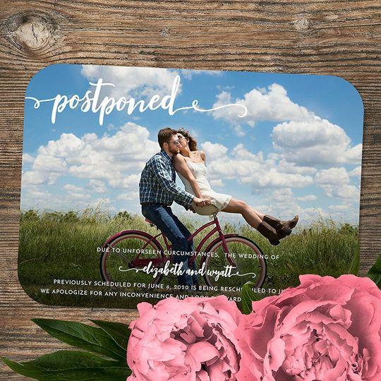 Postponed wedding