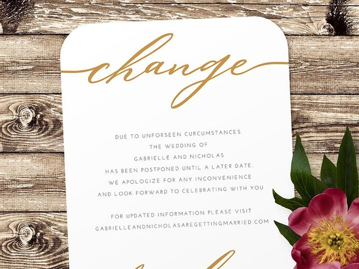 Tmx Change Of Plans 51 1188 159269784743434 Alexandria, VA wedding invitation