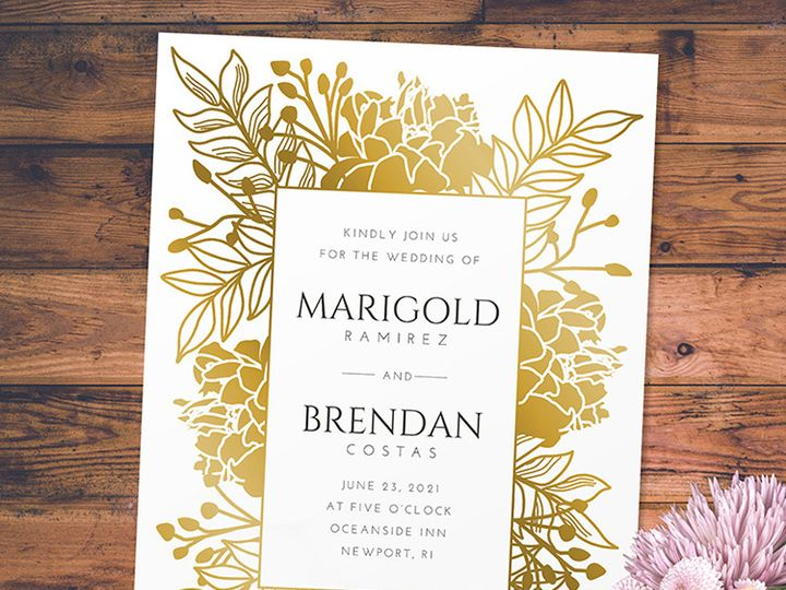 Tmx Flower Frame Wedding 51 1188 V1 Alexandria, VA wedding invitation