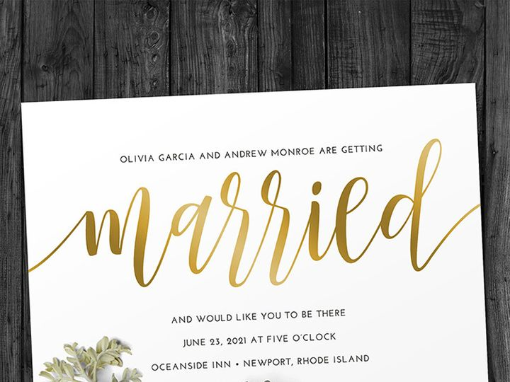 Tmx Married Wedding 51 1188 V1 Alexandria, VA wedding invitation