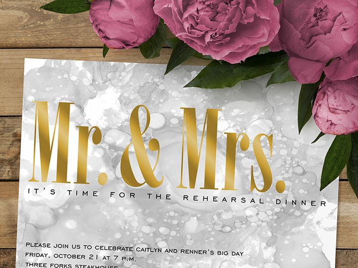 Tmx Mr Mrs Rehearsal Dinner 51 1188 Alexandria, VA wedding invitation